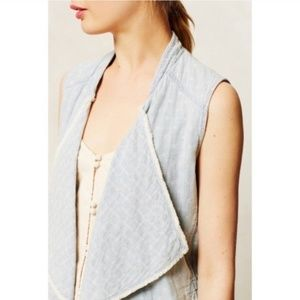 Anthropologie hei hei chambray vest XS